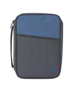 Bibelfodral - large, svart/blå