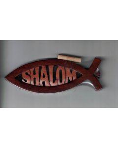 Shalom Fisk i mahogny