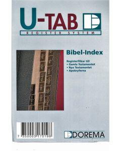 Bibelnindex GT, NT & Apokr. Guld på svart