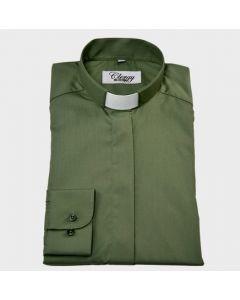 Herr dikonskjort ljusgrön långärm strykfri