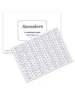 Mannakorn, Ca 400 Bibelhänvisningar