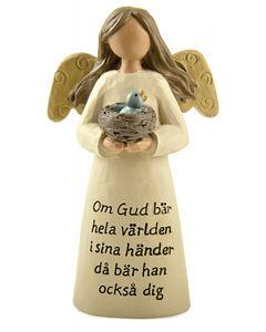 Ängel med fågelbo. Om Gud bär hela världen...