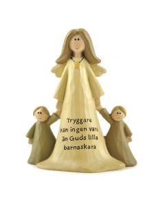 Ängel med två barn. Tryggare kan ingen vara