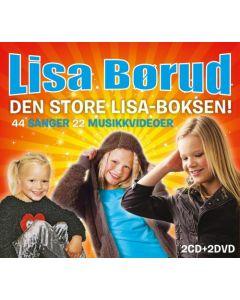 Lisa Börod - Den stora Lisa boxen - 2CD & 2DVD