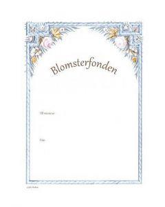 Minnesblad Blomsterram bid och text till minne 25/fp