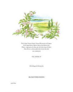 Minnesblad : Strandvy, bild o text, Dan Andersson