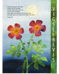 Vigselbevis : Akvarell/Collage 1st