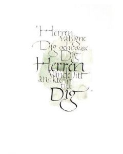 Konfirmationsminne : Kalligrafi 25/fp